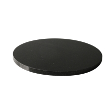 7.875 inch Round Black Granite Base