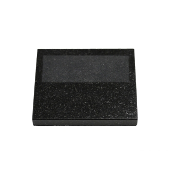 3 x 3.5 inch Black Granite Base