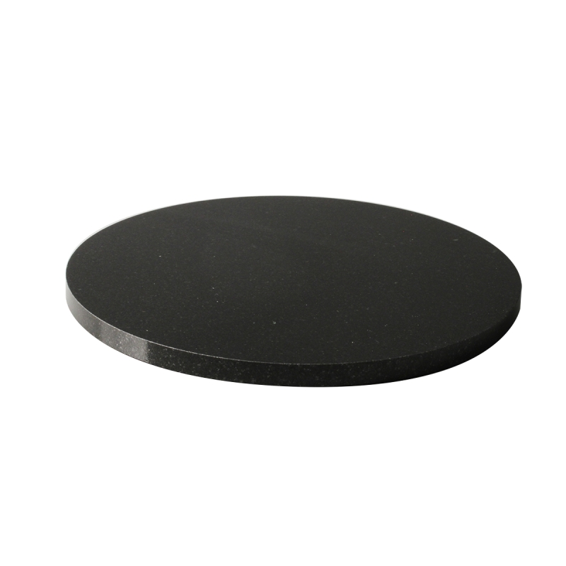 "7.875"" Round Black Granite Base"